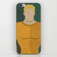 aquaman iPhone & iPod Skins featuring Aquaman by Loud & Quiet