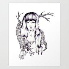 Tree Woman Art Print