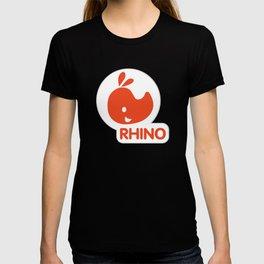 emblem of a red rhinoceros T-shirt