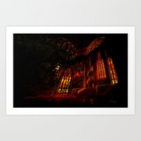 castlevania Art Prints featuring Castlevania: Medusa's Room by FirebornForm