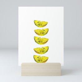 Lemon Slices White Mini Art Print