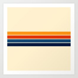 Classic Retro Stripes Art Print