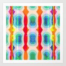 Mod Squad Wallpaper Stripe Art Print