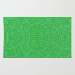 Trippy Rice fields Rug