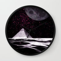 ufo Wall Clocks featuring ufo by sustici