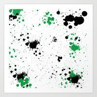 splatter Art Prints featuring Splatter by Inphocus Photography
