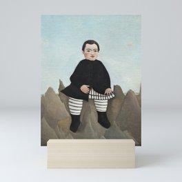 Boy on the Rocks (ca. 1895–1897) by Henri Rousseau. Mini Art Print