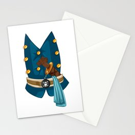 Halloween Pirate Costume Wolf Dagger Stationery Cards