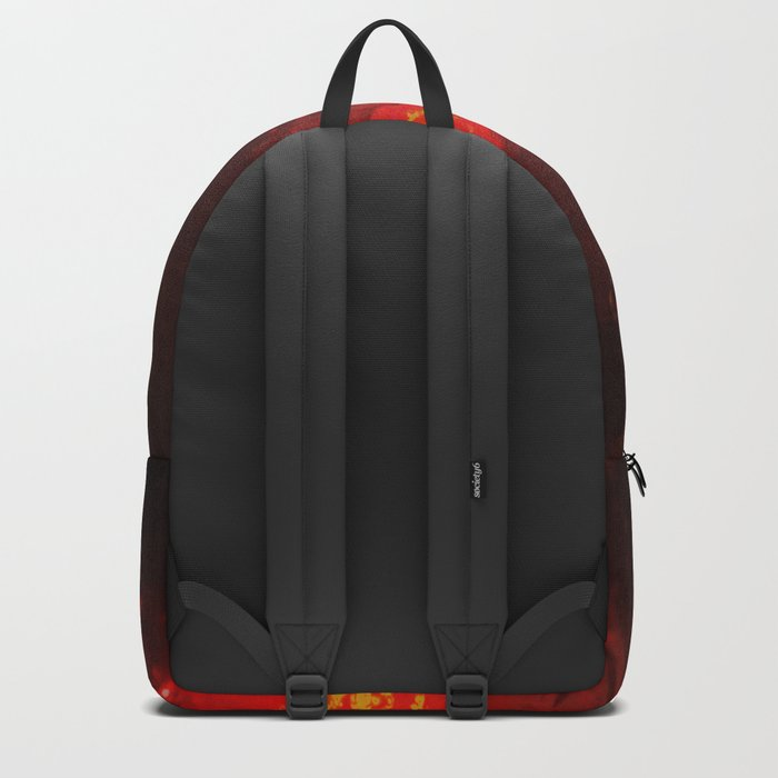 Abstract Red Rain Backpack
