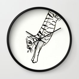 Jumping Tiger Wall Clock