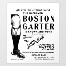 Boston Garter  Art Print