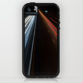 Lightning on the road iPhone Case