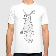 On the inconveniences of dressing up as an animal. White Mens Fitted Tee X-LARGE