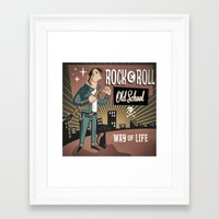 rock and roll Framed Art Prints featuring Rock&Roll by Nano Barbero