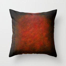 Grunge Red Panel Throw Pillow