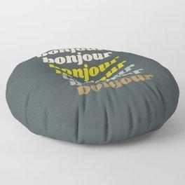 Bonjour in Pretty Pastels Floor Pillow
