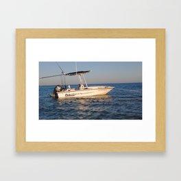 Anchored at Sea Framed Art Print