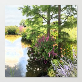 Hyde Hall in the blush of a summer Canvas Print