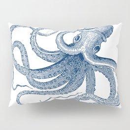 Blue nautical vintage octopus illustration Pillow Sham