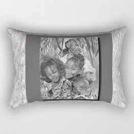 K.A.A.A. (featuring the beautiful children of Ayesha NuRa and Na'imah Delpeche) Rectangular Pillow