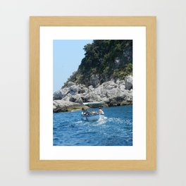 Boat in Capri Framed Art Print
