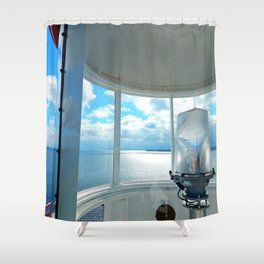 Souris Lighthouse View from the Top Shower Curtain