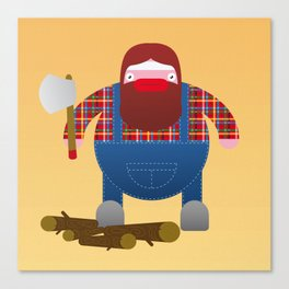 Woodcutter. Canvas Print
