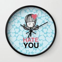 I Hate You / Lollipop Wall Clock