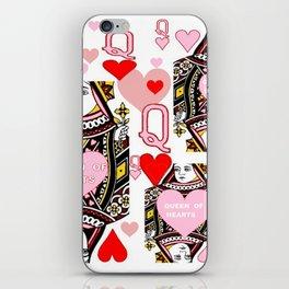 RED &  PINK QUEEN OF HEARTS CASINO ART iPhone Skin