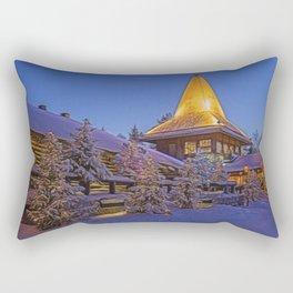 Santas Village. Rectangular Pillow