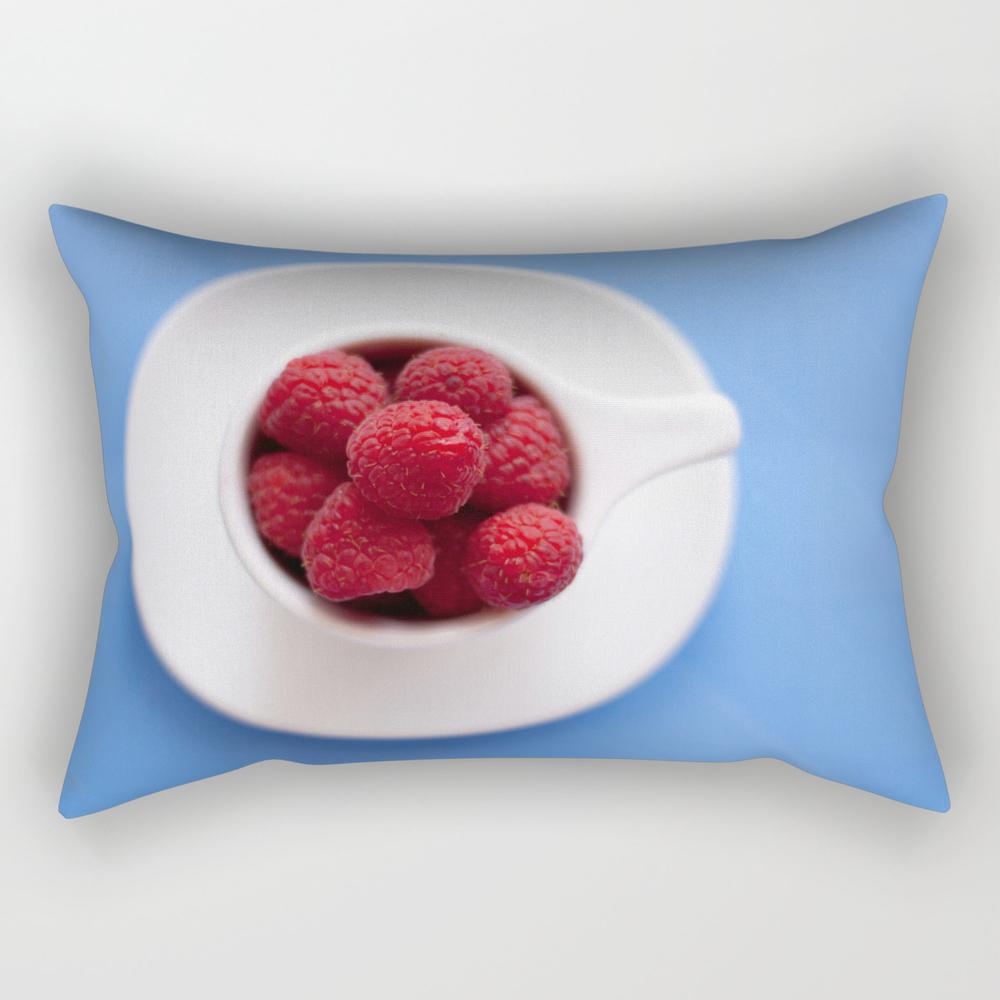 Raspberries In A Cup Rectangular Pillow RPW8024579