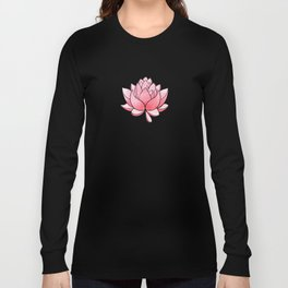 Lotus Blossom - Blush Pink and Metallic Gold Long Sleeve T-shirt