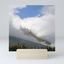 Rocky Mountains Wrapped in Epic, Luxurious Clouds Mini Art Print