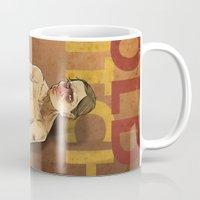 bitch Mugs featuring OLD BITCH by ErsanYagiz