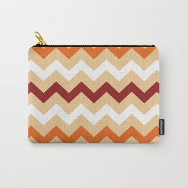 Colorful Chevron pattern in Boho Style / Old Fashion. Carry-All Pouch