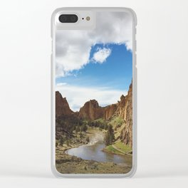 Smith Rock Clear iPhone Case