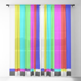color tv Sheer Curtain