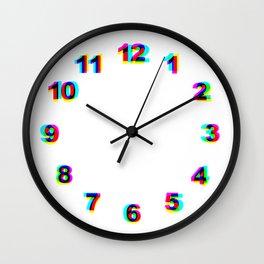Numbers Clock Wal RGB Wall Clock