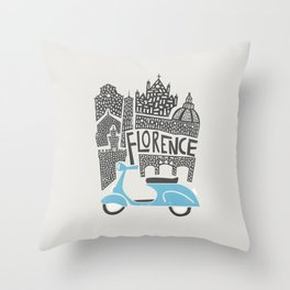Florence Cityscape Throw Pillow