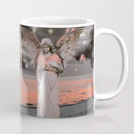 Grey Coral Pink Angel Waves Water Ocean Moon Stars Art A331 Coffee Mug