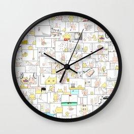 4KOMA-MATSURI Wall Clock