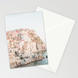 Positano, Italy Amalfi coast pink-peach-white travel photography in hd Stationery Cards