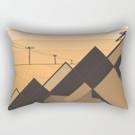 Little mountains and a car  Rectangular Pillow