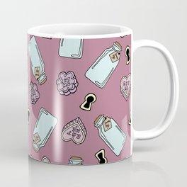 Eat Me, Drink Me -Pink Coffee Mug