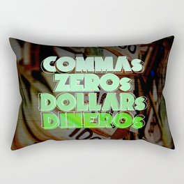 Comma, Zero, Dollar and Dinero Rectangular Pillow