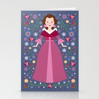 belle Stationery Cards featuring Belle by Carly Watts