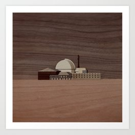 Douneray Nuclear Facility | Marquetry Art Print