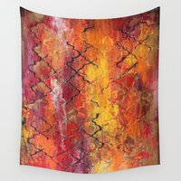 moroccan Wall Tapestries featuring Moroccan  by Liz Moran