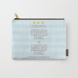 Waffles Friends Work Carry-All Pouch