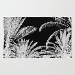 Palm Trees B&W Rug